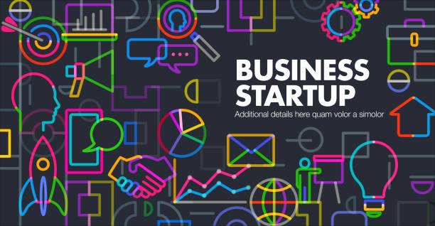 ilustrações, clipart, desenhos animados e ícones de lançamento de inicialização de negócios - startup