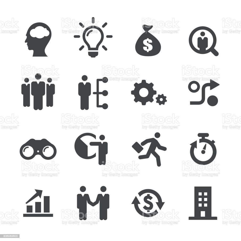 Business Startups Icons - Acme Series vector art illustration