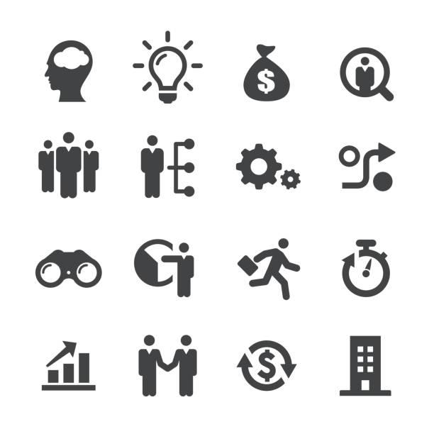 ilustrações, clipart, desenhos animados e ícones de ícones de startups de negócios - série acme - entrepreneurship