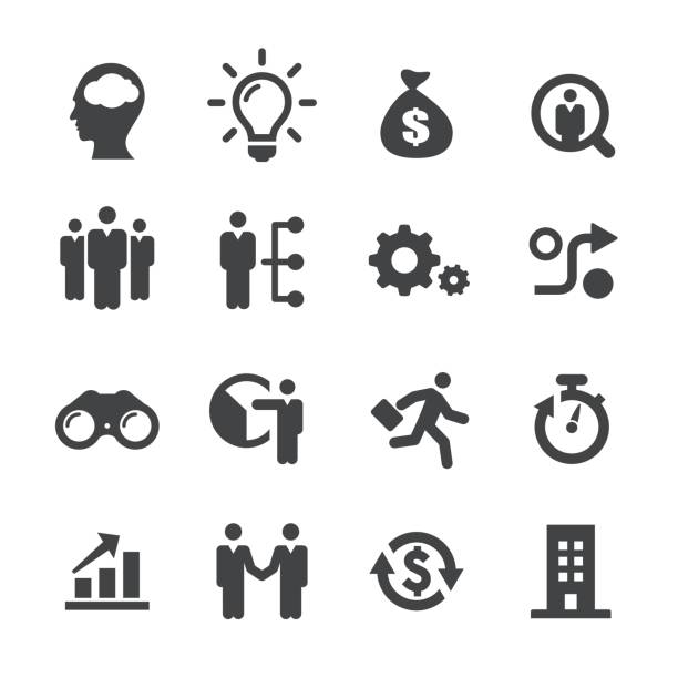 business startups icons - acme series - entrepreneurship stock illustrations