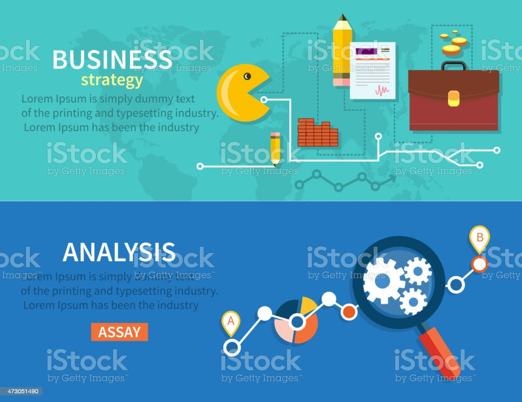 Business Stategy and Analysis vector art illustration