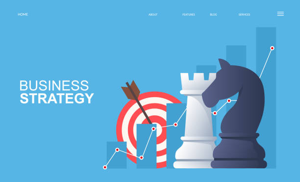 Business strategy and business analysis concept. vector art illustration