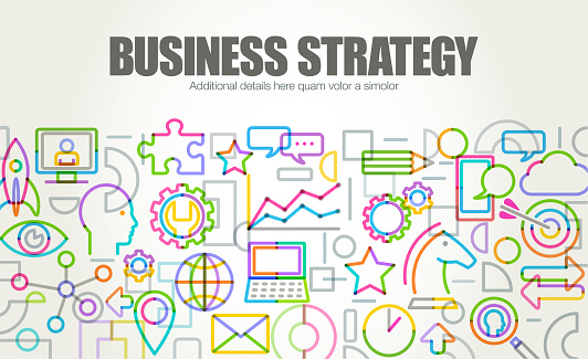 Business Strategy Banner or Website Template