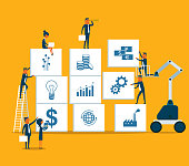 Financial investment, analytics with growth report