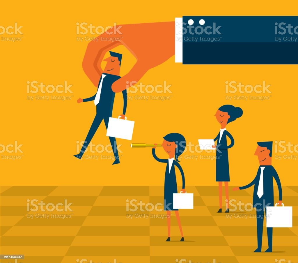 Business Strategy - Chess vector art illustration