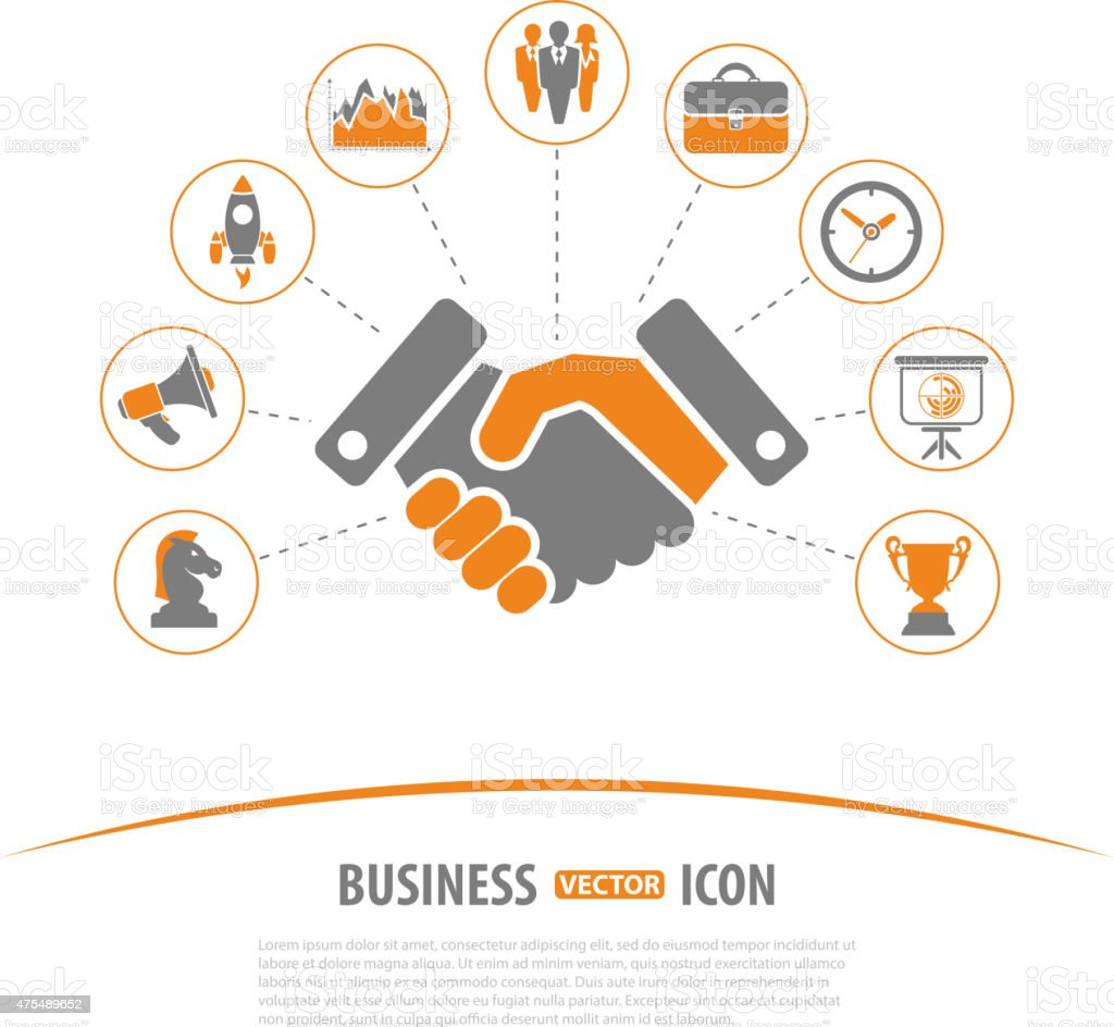 Business Strategy Concept vector art illustration
