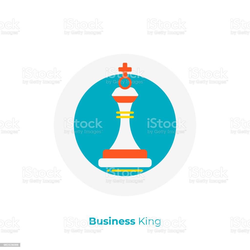 Business strategy flat art icon, investment tactics vector art,...