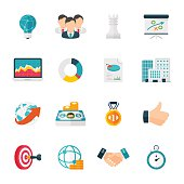 Flat design business strategy related icons can beautify your designs & graphic