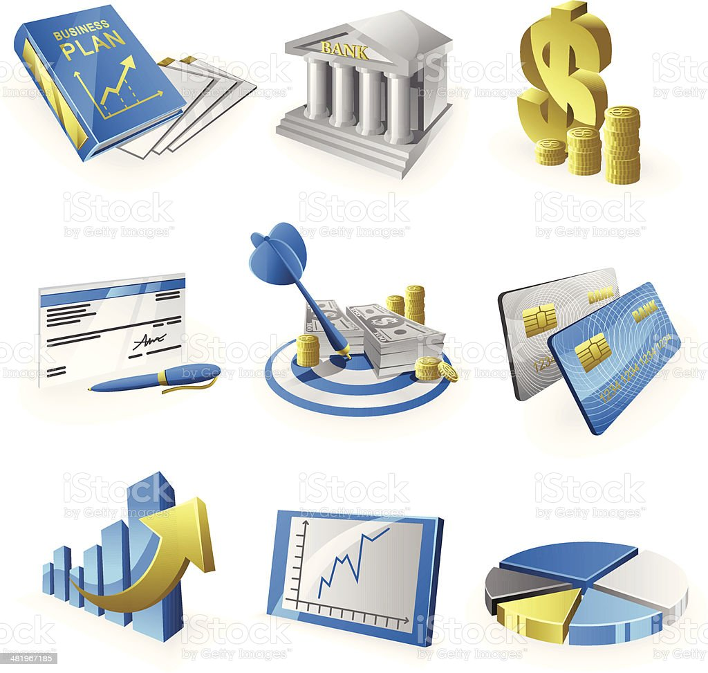 Business Strategy Icon Set royalty-free business strategy icon set stock vector art & more images of aiming