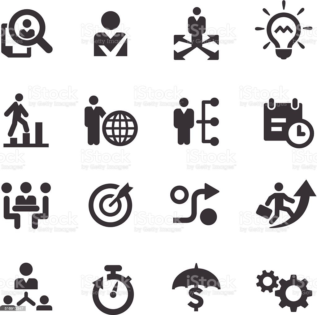 Business Strategy Icons - Acme Series vector art illustration