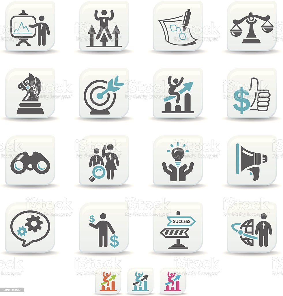 business strategy icons | simicoso collection vector art illustration