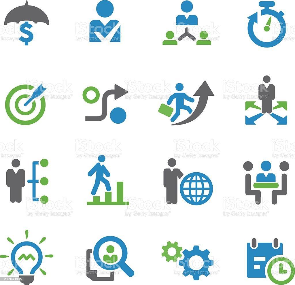 Icônes de stratégie d'entreprise-Série Spry - Illustration vectorielle