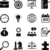 Vector File of business strategy icons related vector icons for your design or application. Raw style. Files included: vector EPS, JPG, PNG. See more in this series.