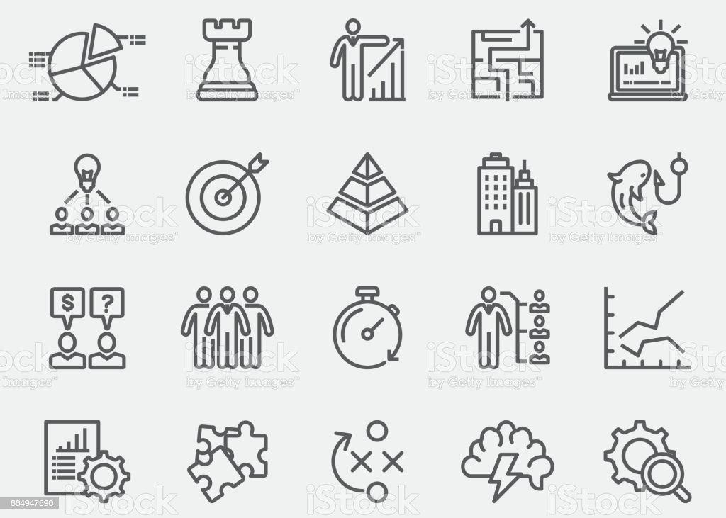 Geschäft Strategie Linie Symbole Eps 10 Stock Vektor Art und mehr ...