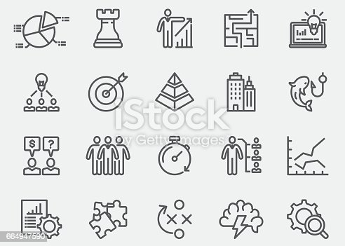 Business & Strategy Line Icons