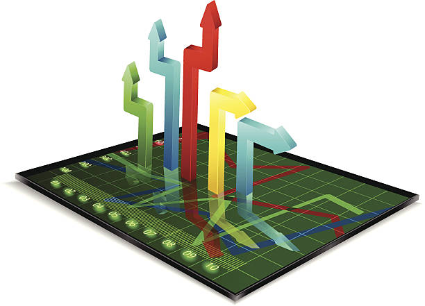 Business strategy Business strategy,Arrows graph dimensionality stock illustrations