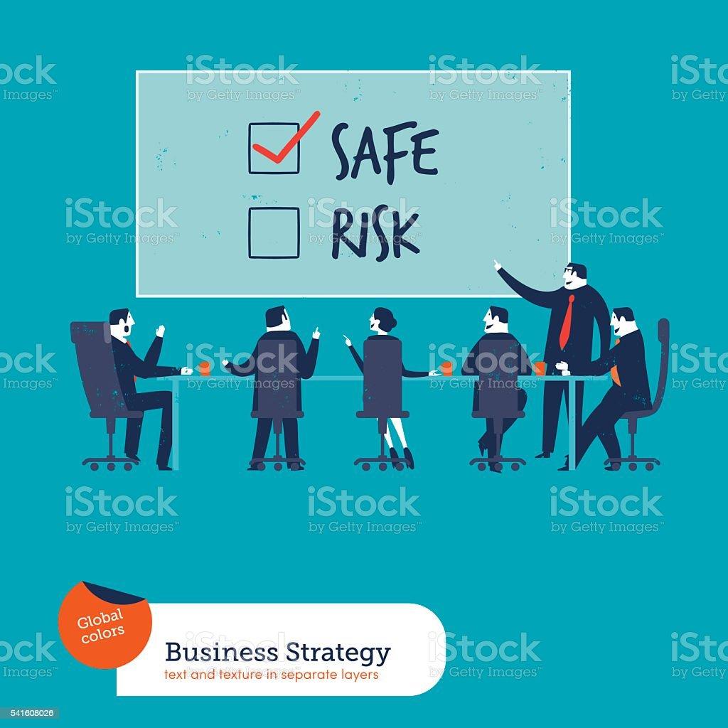 Business Strategy vector art illustration