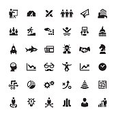 Business Strategy vector symbols and icons