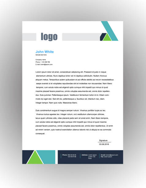 Business style letter head templates for your project design, Vector illustration Business style letter head templates for your project design, Vector illustration . letterhead stock illustrations