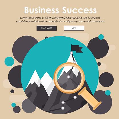 Business success concept. Flat vector illustration