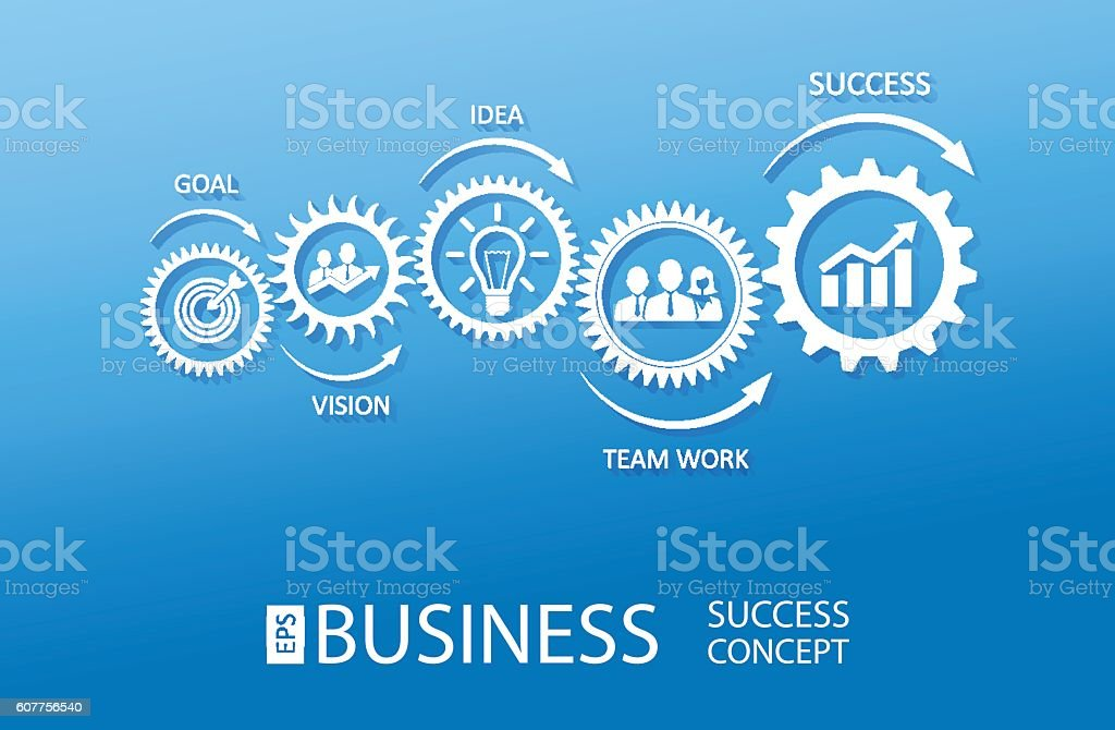 Business Success Concept vector art illustration