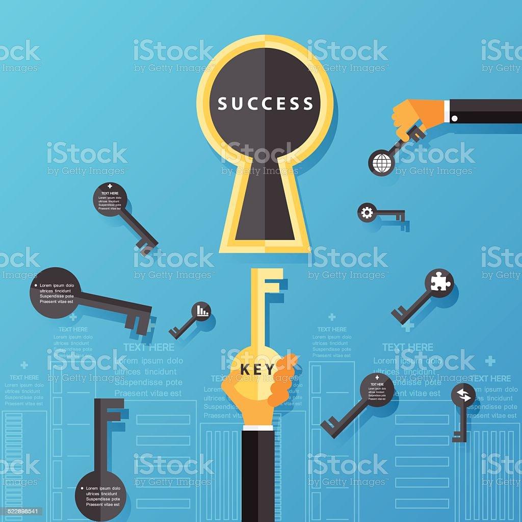 business success concept.Vector Design. vector art illustration