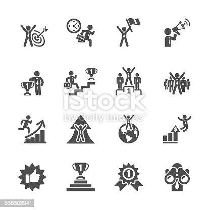 business success icon set, vector eps10..
