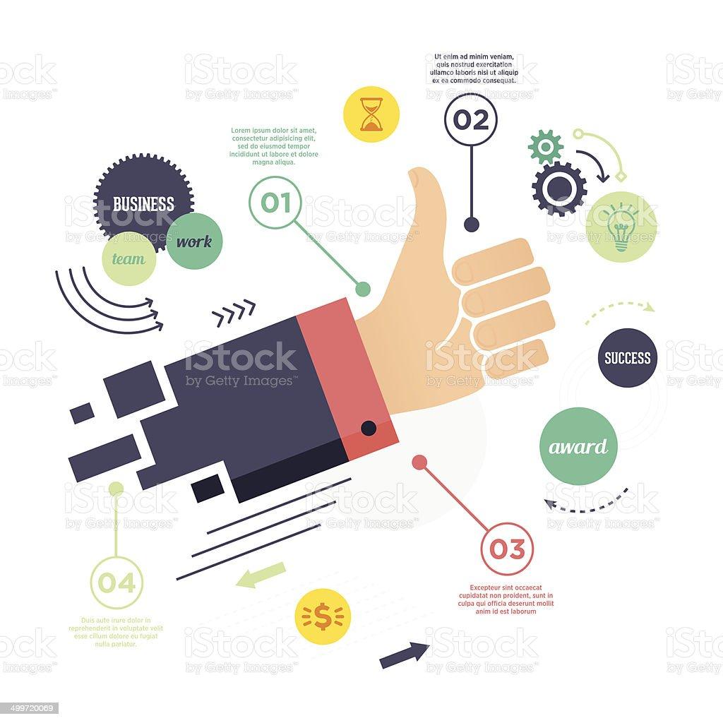 Business Success Infographic vector art illustration