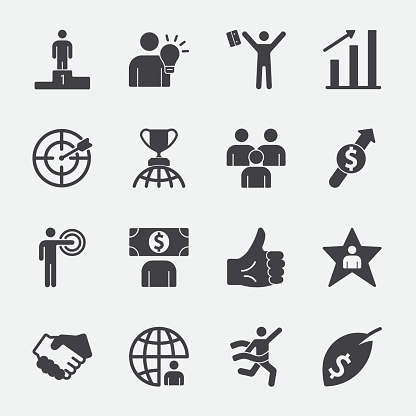 Business success vector icon