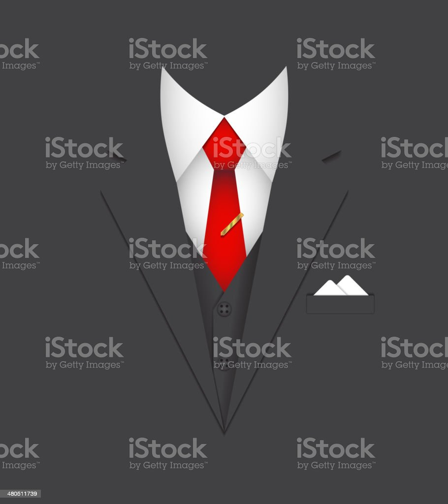 business suit concept vector art illustration