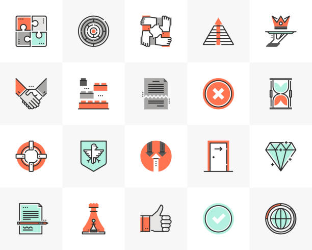 business symbole futuro next icons pack - all vocabulary stock-grafiken, -clipart, -cartoons und -symbole