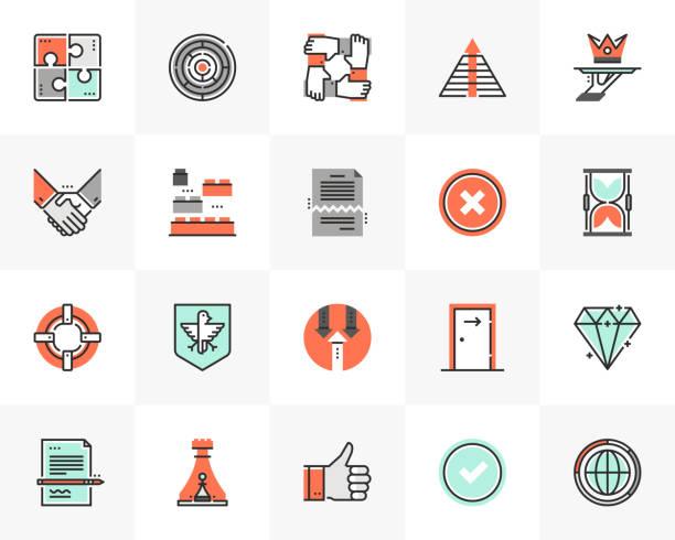 Business Symbols Futuro Next Icons Pack vector art illustration