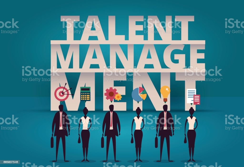 Business talent management concept. HR manager hiring employee or workers for job. Recruiting staff in company. Organizational socialization illustration. Acquisition or onboarding illustration. vector art illustration
