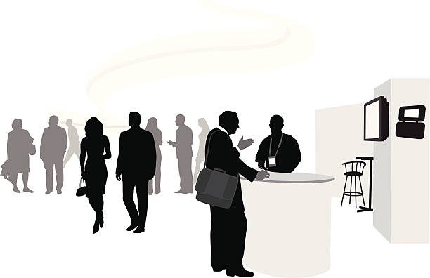 businesstalk - 展示会点のイラスト素材/クリップアート素材/マンガ素材/アイコン素材
