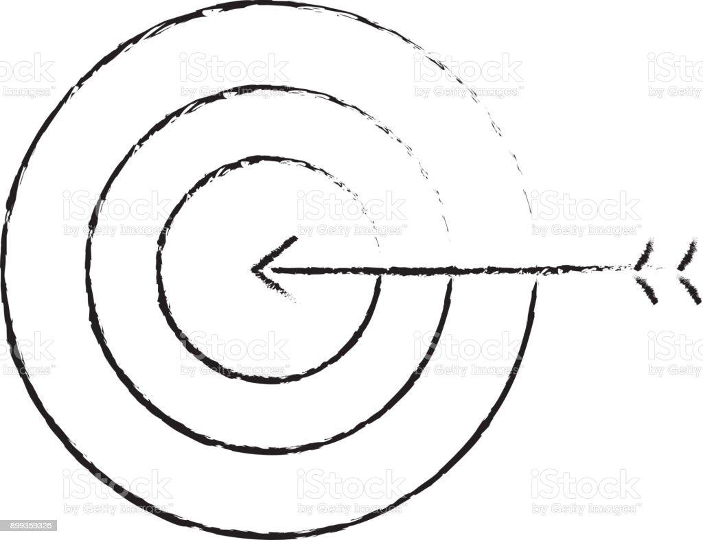 business target arrow strategy symbol vector art illustration