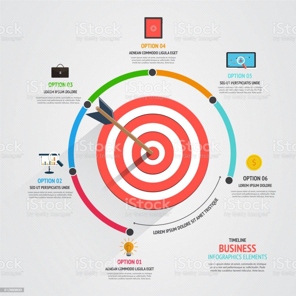 Business target marketing concept vector art illustration