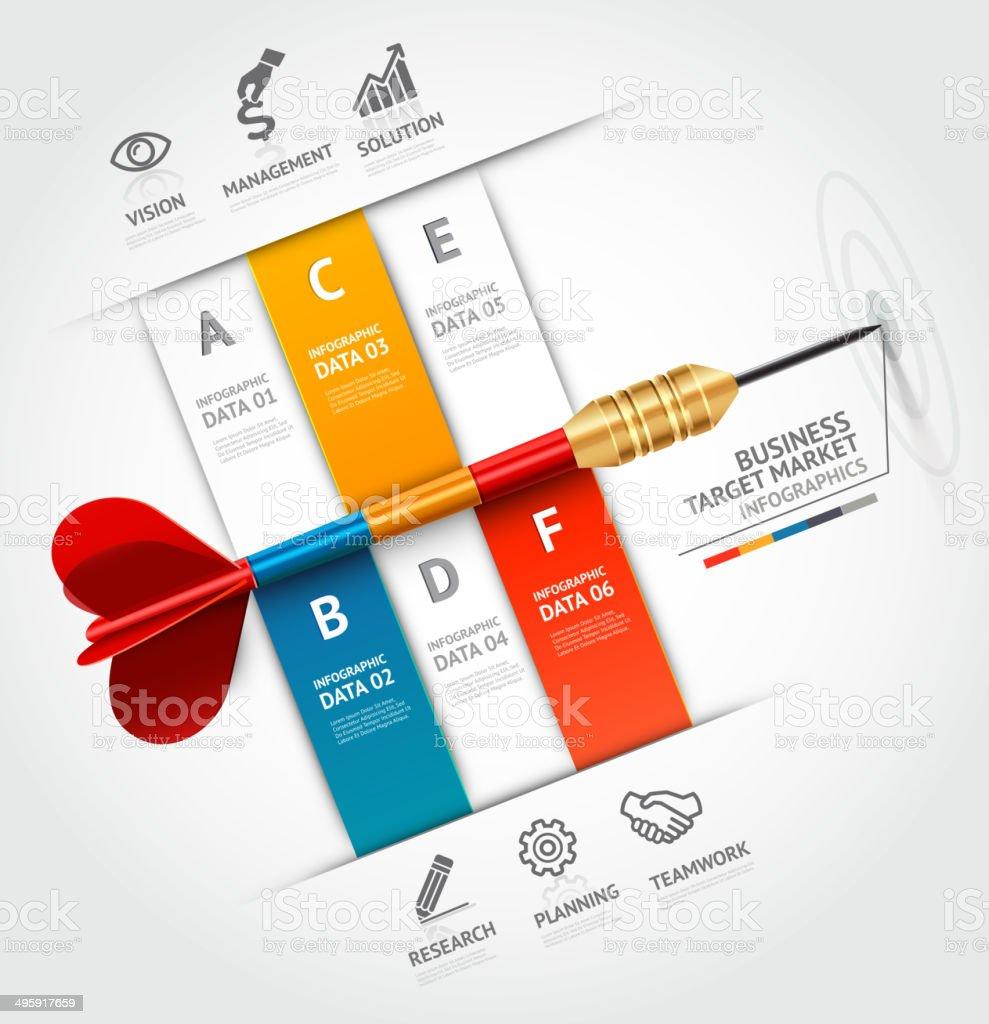 Business target marketing dart idea. vector art illustration