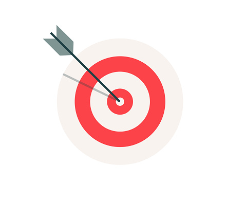 Business target vector web icon
