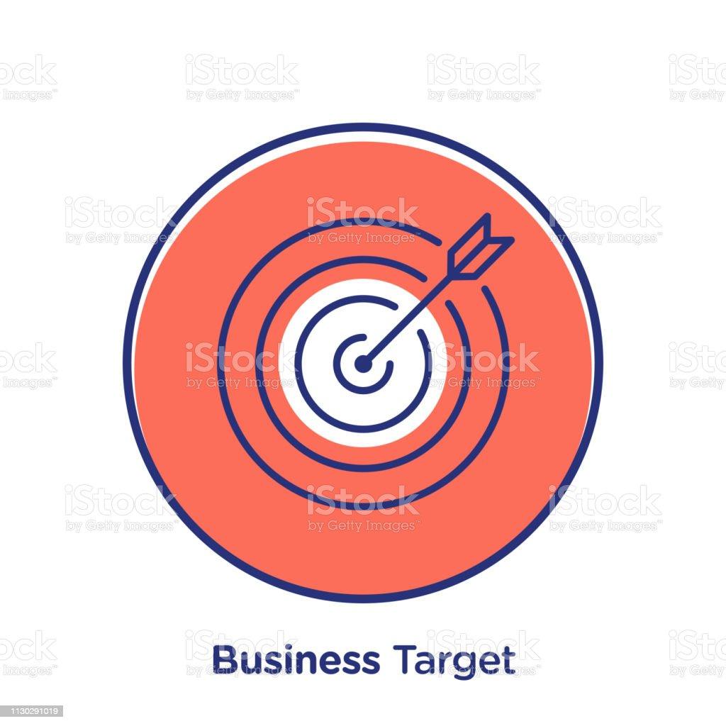 Business target vector web icon illustration. Modern line concept for...