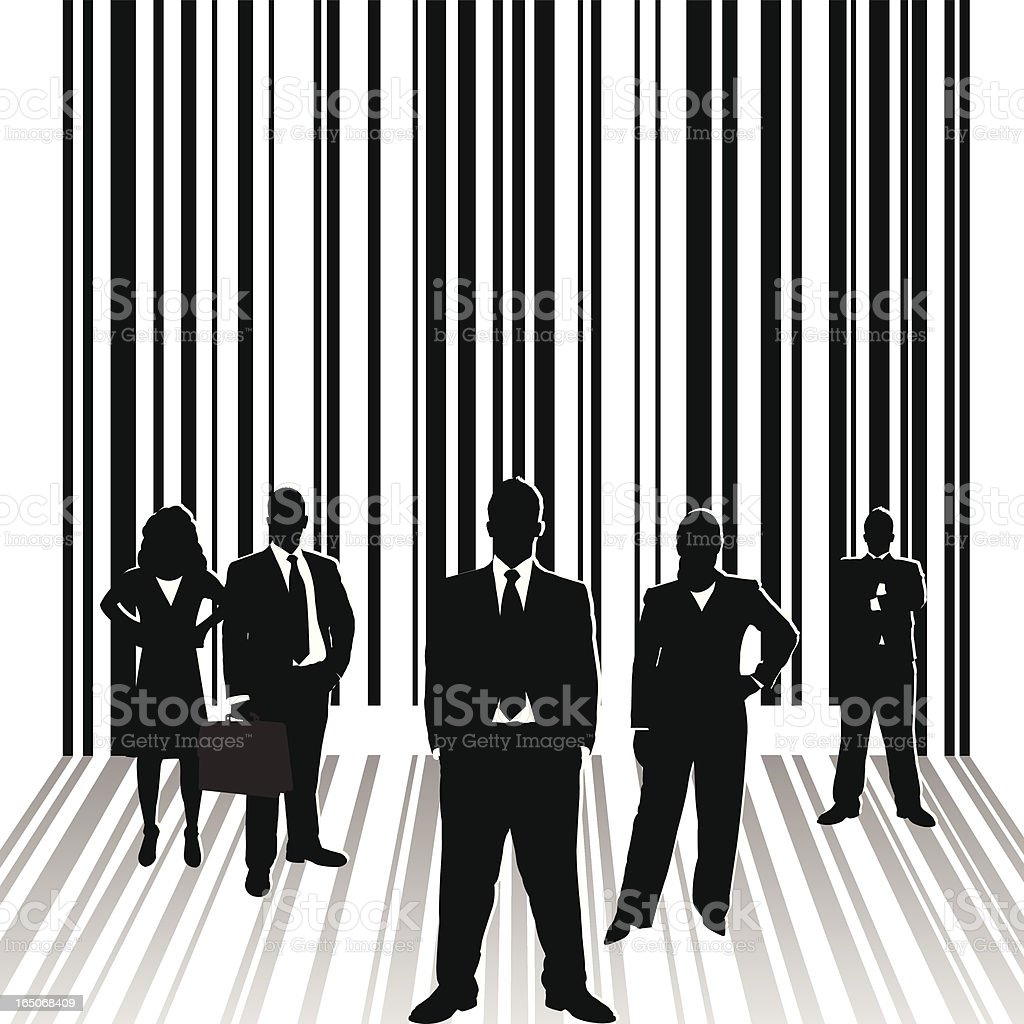 Business Team Barcode Series royalty-free stock vector art