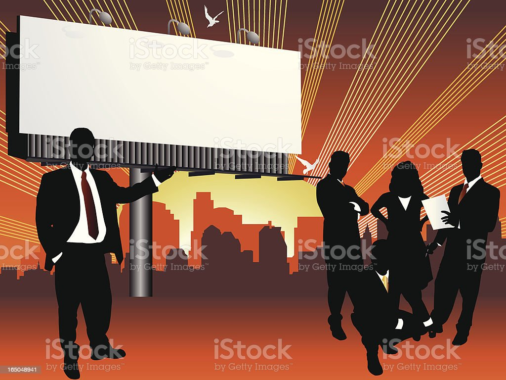 Business Team Billboard Series royalty-free stock vector art