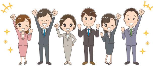 ビジネス チームは、様々 な世代で構成されます。 - オフィスワーク点のイラスト素材/クリップアート素材/マンガ素材/アイコン素材