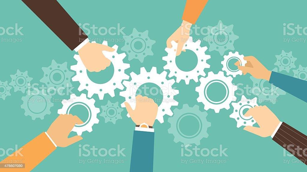 Business team concept vector art illustration