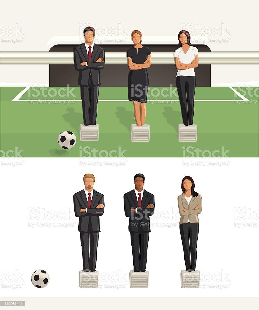 Affaires équipe de baby-foot - Illustration vectorielle