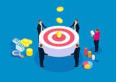 Business team goal concept