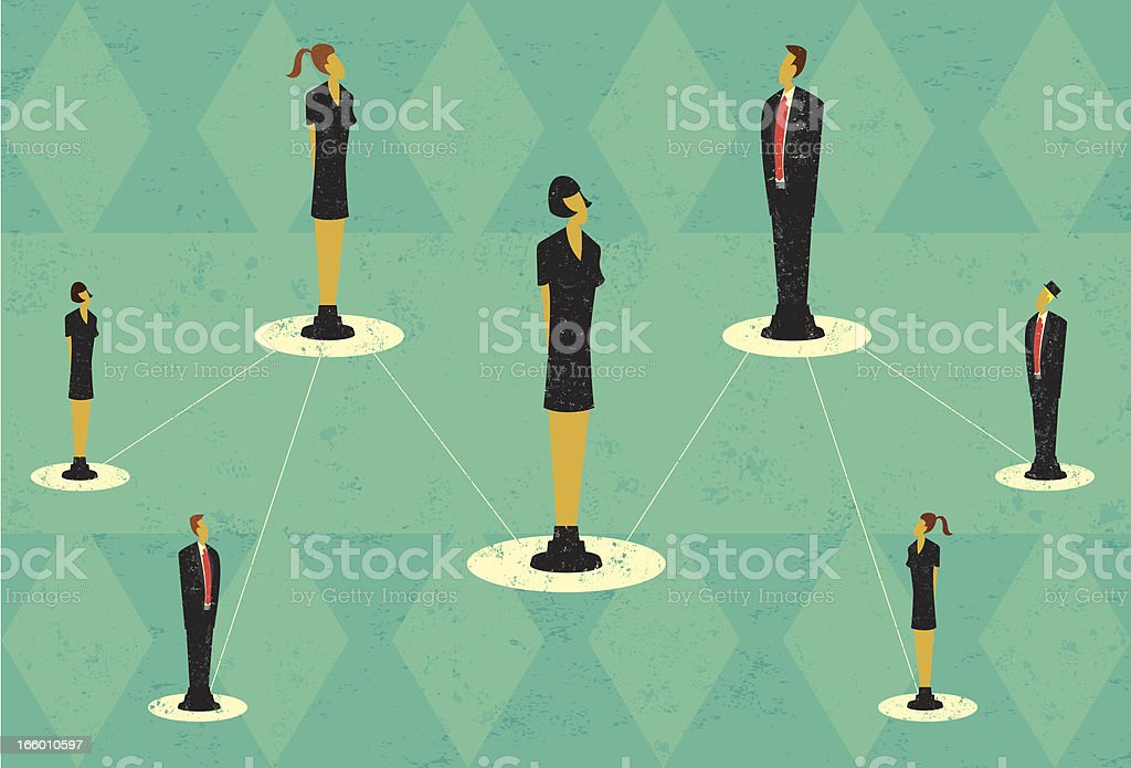 Business team hierarchy royalty-free stock vector art