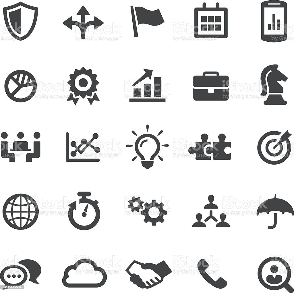 Business Team Icons - Smart Series vector art illustration
