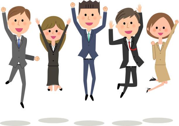 ビジネス チームは、スーツを着ている人の - オフィスワーク点のイラスト素材/クリップアート素材/マンガ素材/アイコン素材