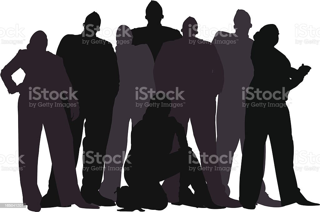 Business Team Silhouette Series vector art illustration