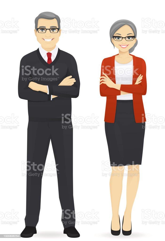 Equipe de negócios - ilustração de arte em vetor